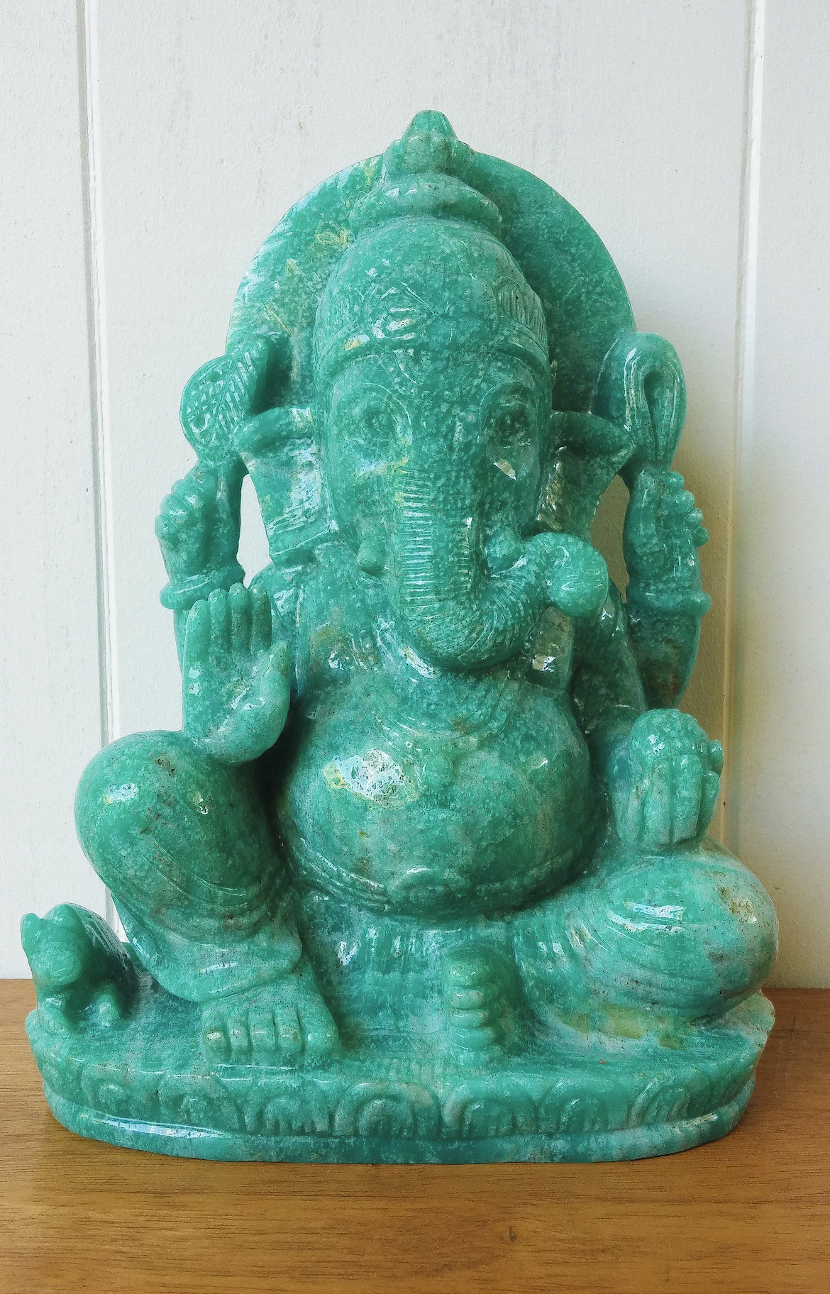 Striking Amazonite Ganesha