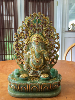 Exquisite Hand Carved Jade Ganesha