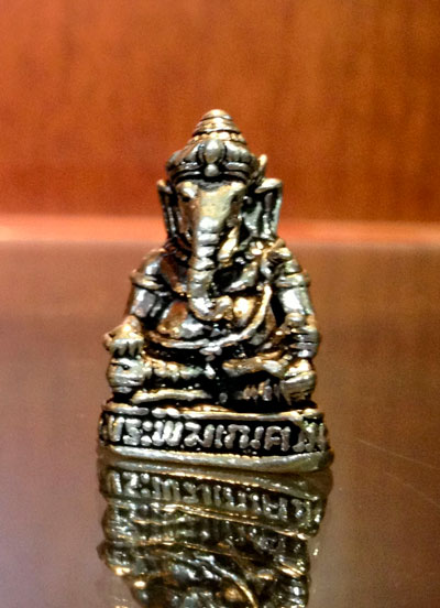 Small Silver Oxidized Ganesha