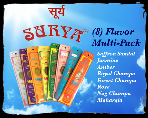 Incense - Surya Multi-Pack (8-Pack)
