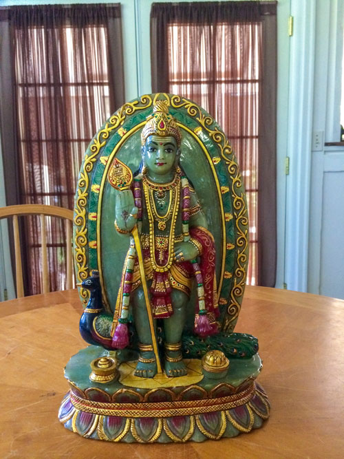 Exquisitely Hand-Carved Jade Muruga!