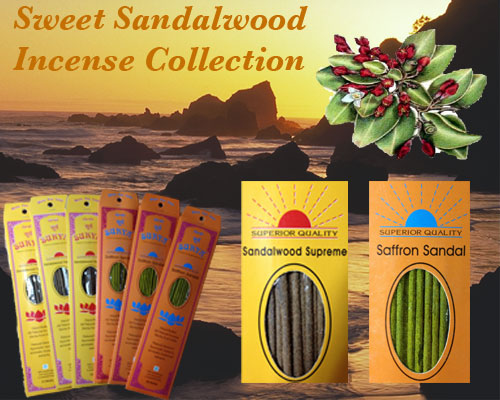 Sweet Sandalwood Incense Collection